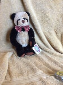"""1995 GANZ COTTAGE COLLECTIBLES by LORRAINE 10"""" Paddy Panda Artist Signed On Foot"""