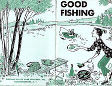 Good Fishing Finger Lakes NY 1965 Booklet Pleasant Valley Wine Co Recipes
