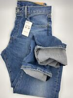 Levis Mens 501 Original Stretch Medium Blue Size 31x34