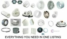 """4"""" 100mm Duct Fitting Ventilation for Extractor Fan System Bathroom Kitchen ALL"""
