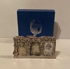 Silver Scenes Mini Triple Photo Frame