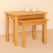 Newlyn - Oak Nest of Tables / Coffee Tables / Light Oak Small Nest of Two Tables