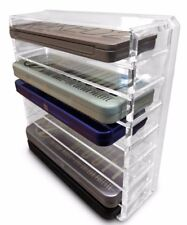 Oi Labels™ Clear Acrylic 8 Tier Palette Cosmetic Makeup Organiser Holder Storage