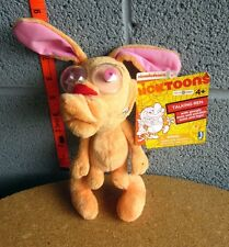 REN & STIMPY plush doll Nickelodeon cartoon toy NWT broken neurotic Chihuahua