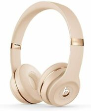 Genuine Beats by Dr. Dre Solo3 Wireless Bluetooth On Ear Headphones Satin Gold