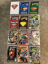 1993 Lot of 12 Superman DC Comic books includes the death of