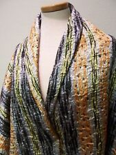 4yds SILK FACE COUTURE MATELASSE COAT SUIT FABRIC STUNNING GOLD BLK OFF WHITE