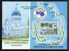 COCOS ISLANDS #121 $2 , 1984 AUSTRALIAN WORLD PHILATELIC EXPO SOUVENIR SHEET
