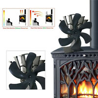 6 Blade for Heat Powered Wood Stove Fan Wood Log Burner Fireplace Friendly Fan