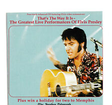 ELVIS CD PROMO FOR THAT'S THE WAY IT IS