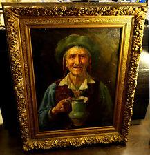 Ölbild,Portrait,italienischer Fischer,Prunkrahmen,19.Jhdt.