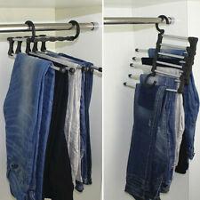 5 in 1 Closet Organizer Trouser Pants Ties Scarf Shawl Rack Hanger Space Saving