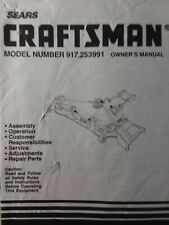 Sears Craftsman Lawn Garden Tractor Mower Deck Owner & Parts Manual 917.253991