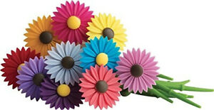Trudeau Silicone Daisy Floral Wine Charms, Set of 12 by Trudeau. Free Delivery