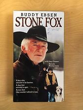 Stone Fox Motion Picture VHS TV Movie 1987 Buddy Ebsen Western Drama RARE OOP