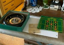Rare Vintage E.S. Lowe Roulette Wheel & Manual Box Betting Board 1941 Spinning