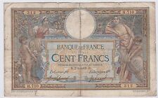 BILLET 100 FRANCS MERSON TYPE 1906 AVEC LOM B 3 3 1909 B 312 H 710