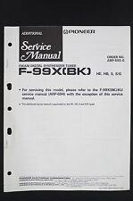 PIONEER F-99X(BK) Original Digital Tuner Additional Service-Manual/Diagram o120