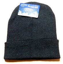 Black Mens Womens KNIT CUFF Beanie Hat Cap Warm Winter NWT RUGGED WEAR