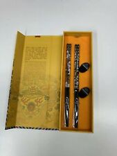 New YUNHONG CHOPSTICKS Painted Dragon Wooden Chopsticks Set with Gift Box China