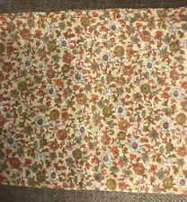 """Vintage Voile Sheer Fabric Brown Floral Fabric, 4 yds x 44"""" wide"""