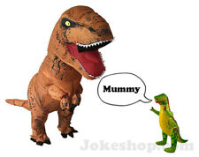 InflatableT-Rex Jumpsuit Adult Blow Up Costume Jurassic + FREE SMALL DINOSAUR