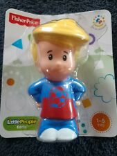 Fisher Price Little People | EDDIE | 3in Blond Hair Soccer Boy Figure | 2013 NEW