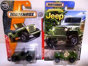 Matchbox Diecast Toy 1943 Jeep Willys WW2 Army Infantry Military Cars Lot #3