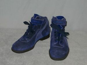 Womens MOMO Design Blue Racing Shoes Suede Leather Boots Size 9.5 US / 40 Euro