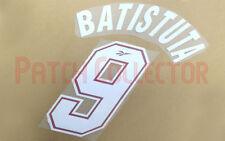Batistuta #9 1996-1997 Fiorentina Home Nameset - 2 layer