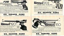 1976 4 small Print Ad of Gil Hebard Guns Sig Hammerli P240 208 150 & 120 Pistols