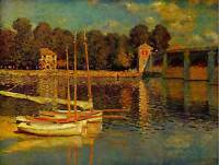 MONET BRIDGE AT ARGENTEUIL OLD MASTER ART PAINTING PRINT POSTER 477OM