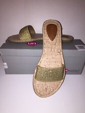 """UNLEASHED by ROCKETDOG Women's """"Frazzle""""Slide-On Sandals""""GOLD""""Size 8M New in Box"""
