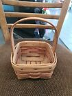 1991 Longaberger Mother's Day Touch Of Pink Potpourri Basket 5x5×6.5