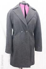 Azzedine Alaïa Paris Grey 100% Wool Belt Back Double Breasted Coat Sz US 6 EUC