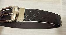 COACH 67417 Weston Reversible Op Art Mahogany Leather Belt, Cut to Size, New