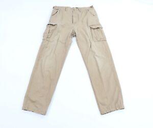 Vintage Cabelas Mens 34x34 Faded Straight Leg Cargo Combat Trousers Pants Khaki