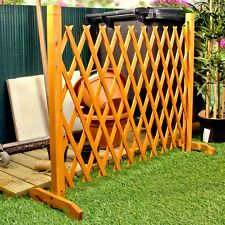 "Garden Trellis Panels Expanding Fence Style 6'2"" Stable Freestanding Wood Screen"