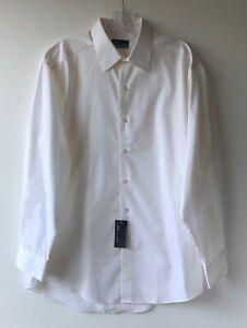 John Ashford mens white button down dress shirt US size M 15.5 x 32/33 fits REG