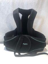 Aspen Summit 456 Black Back Brace Adjustable Sz X Small-XX Large