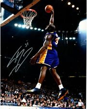 """SHAQUILLE O'NEAL Hand Signed Lakers """"Dunk"""" 16 x 20 Photograph STEINER"""
