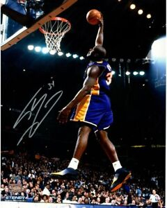 "SHAQUILLE O'NEAL Hand Signed Lakers ""Dunk"" 16 x 20 Photograph STEINER"
