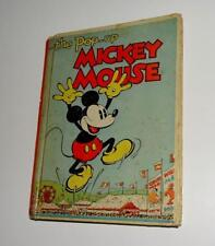 "Disney 1933 Mickey Mouse ""Pop-Up"" Book By Blue Ribbon Press-Complete Ex! Pop-Ups"