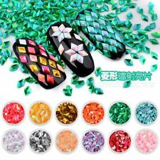 12 Colors 3D Diamond Glitter Nail Art Decoration Manicure Charms Accessories DIY