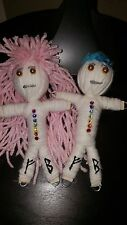 Swarovski Chakra Poppet Pair Doll Intention/Spell herb infused Karma Keepers