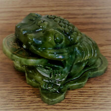 Feng Shui Jade Money Frog Three Legged Toad Prosperity Wealth Luck