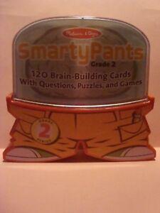 Melissa & Doug SMARTY PANTS Grade 2 Brain Building Cards Questions Puzzles Games