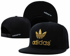 Embroidered Adidas Snapback Adjustable Flat Cap Black/Gold : One Size Fits Most