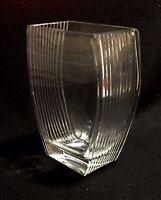 Vintage 1980's Avon MCM Ribbed Vase Clear 24% Lead Crystal Vase Germany