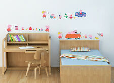 Peppa pig Wall Decor Vinyl Decal Stickers Removable Nursery Kids Baby Art